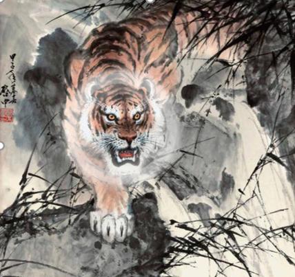 老虎外发光效果